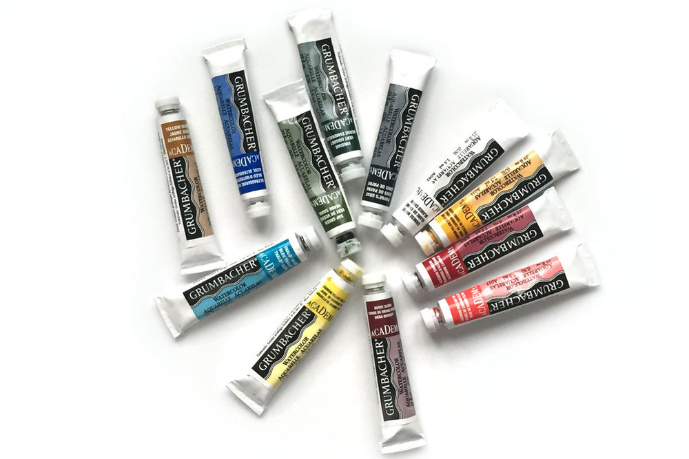Watercolor-basics-Tube-Paint-2-Olive-Blossom-Designs