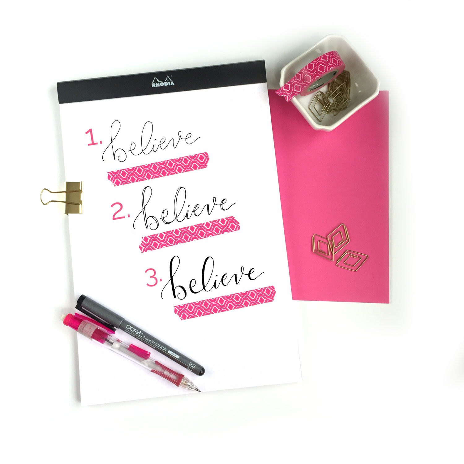 Faux Calligraphy- 1 -2 - 3