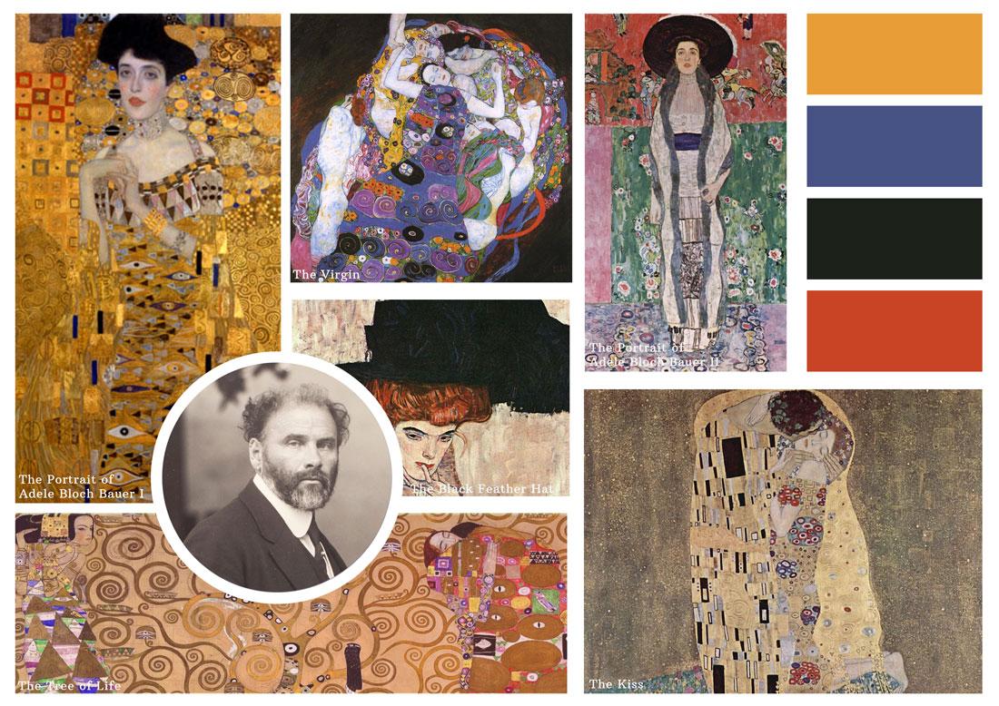 The Portrait of Adele Bloch Bauer I  (upper left) sold for $135 million
