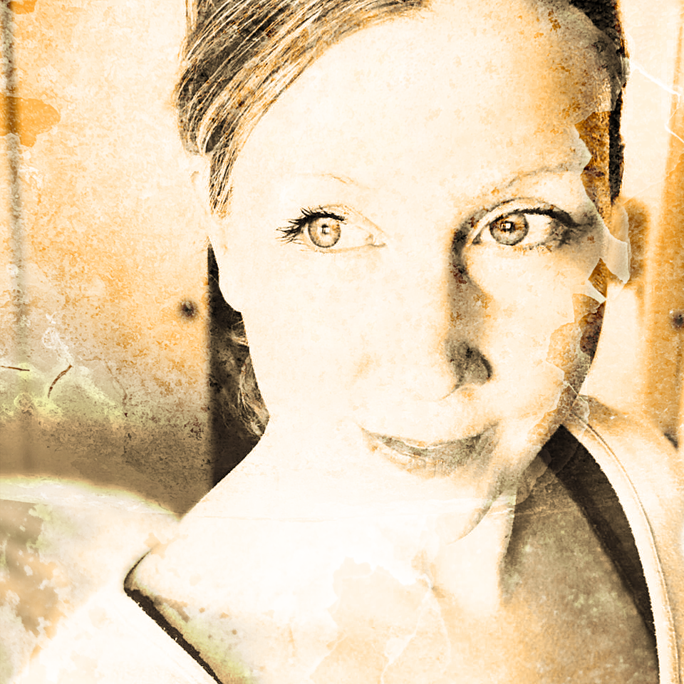 The Wild West Grunge - For my selfie, I used a two step process to make ol' time sepia photos. First, I made the photo black and white on my phone's editing app. After it was black and white, I added the sepia color in Photoshop. To find the Sepia feature, go to Image>Adjustments>Photo Filter. From the Filter drop down menu, choose Sepia. Then adjust the strength of the filter according to your taste.After the sepia effect is complete, add the guard rail texture photo on top and play with the blend modes. I chose Overlay and left it at 100% opacity.