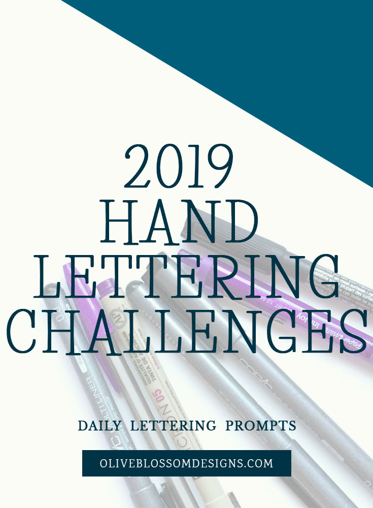 Participating in hand lettering challenges on Instagram is a great way to practice and develop your unique hand lettering style.
