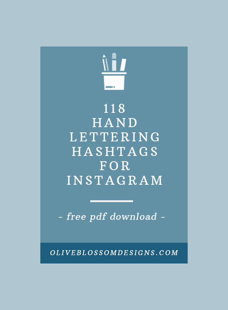 Finding the correct hashtag recipe for your INSTAGRAM post is important to get your work IN FRONT of your targeted AUDIENCE. Get a free downloadable PDF with over 100 HAND-LETTERING hashtags.