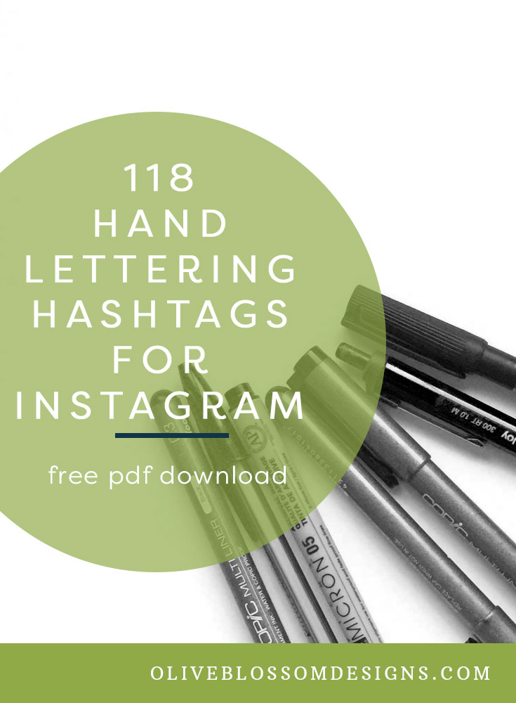 Looking for hand lettering hashtags? - If so, I've got you covered.118 Hand Lettering Instagram Hashtags has some info on how to curate the perfect hashtag recipe.OR skip it and grab your list by clicking the button below ↓