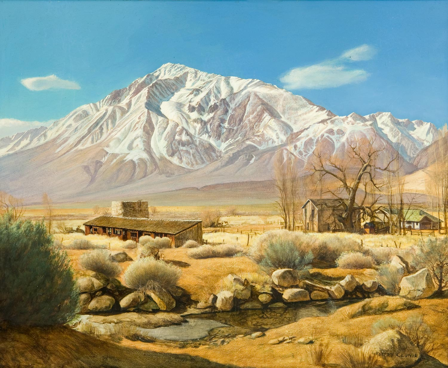 """Mt. Tom Round Valley at Roberts Ranch"" by Robert Clunie"