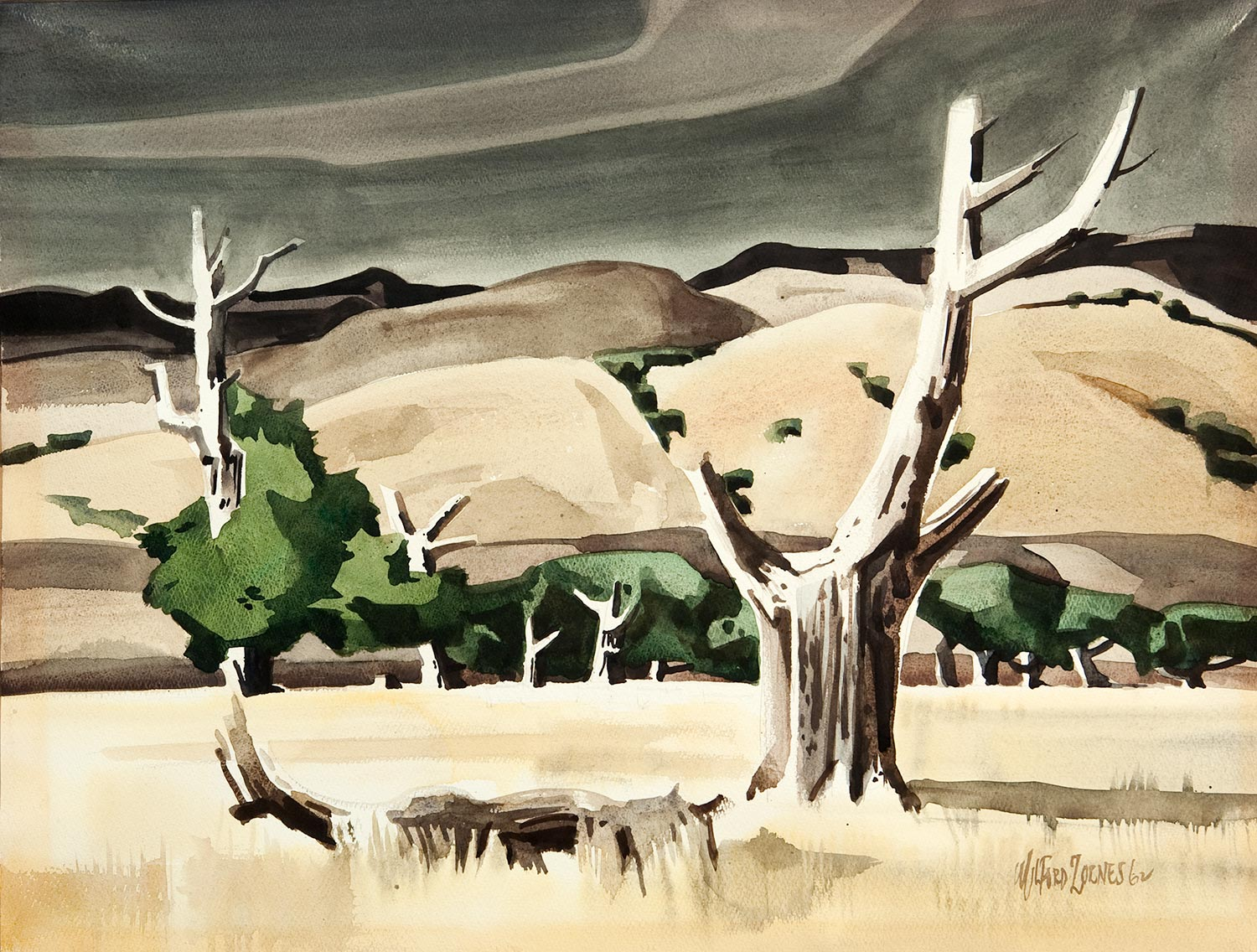 """Santa Ynez Valley"" by Milford Zornes"