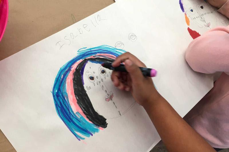 santa paula art museum kids portraits
