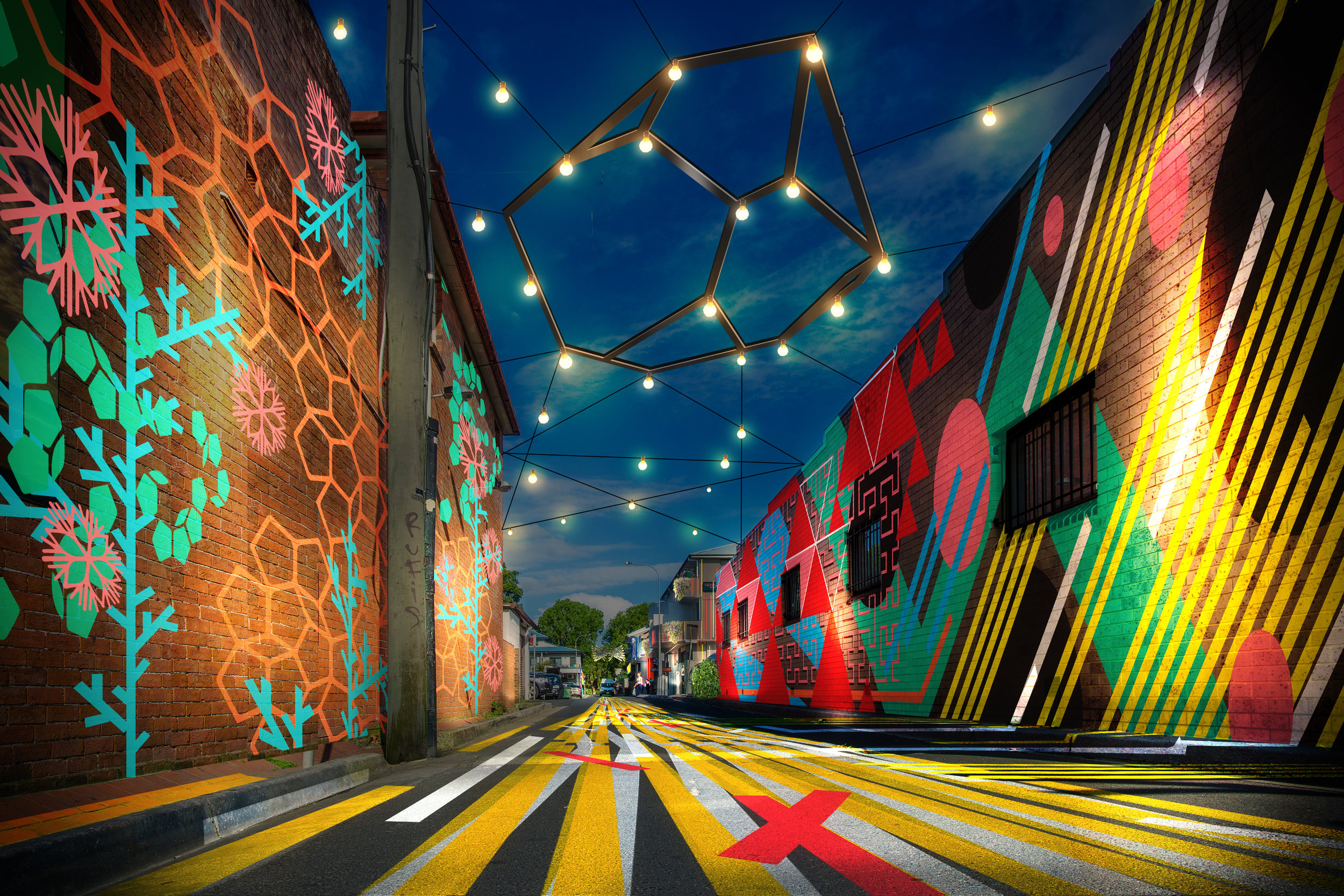 project: Elysium   Permanent transformation of Lawson lane byron bay  company creative road   role: project manager