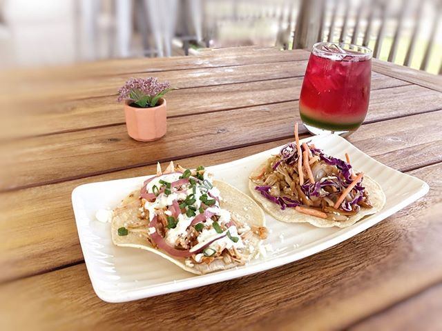 NEW: #jackfruit tacos have arrived at #sydneyportsmouth 🌮 now available for lunch weekdays 11-2. they're vegetarian and served with a vegan slaw. try delicious tex-mex, teriyaki or one of each. our braised shredded jackfruit will remind you of pulled pork! stay tuned for the launch at #sydneypvd in 1-2 weeks 🚀