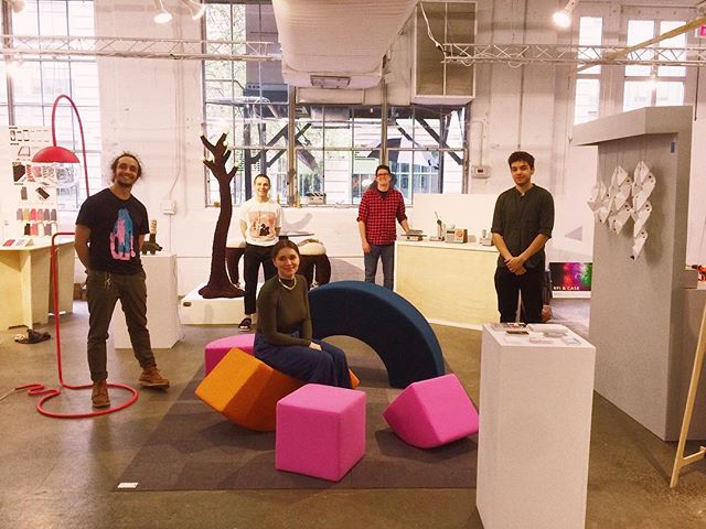 All set up for @wanteddesign Brooklyn! . . . . . . . #wanteddesign #wanteddesignnyc #wanteddesignbrooklyn #furniture #furnituredesign #furnituredesigner #muebles #memphisgroup #ettoresottsass