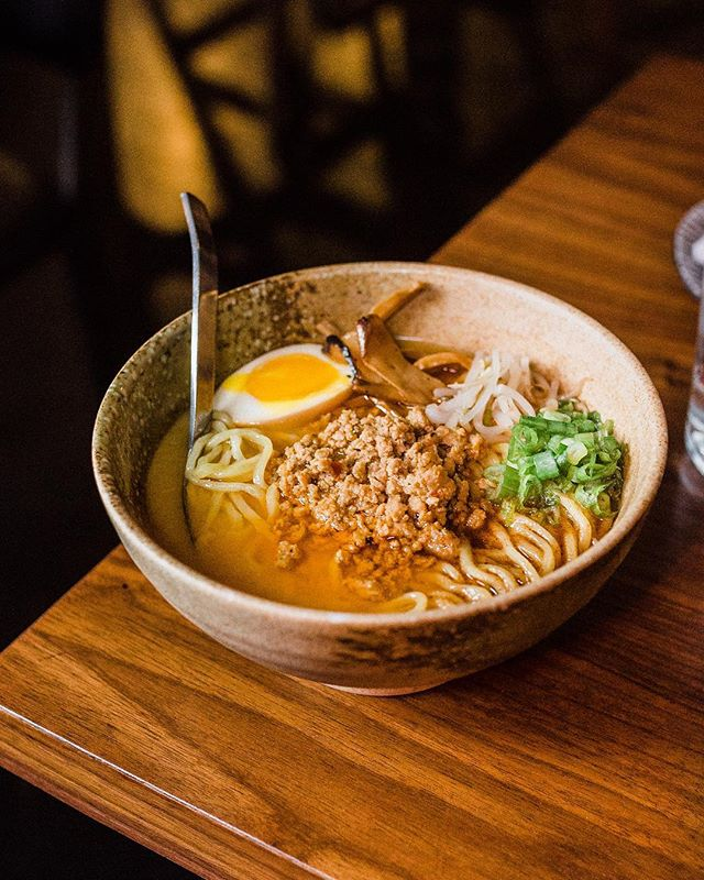 Our noodle feature tonite is Tonkotsu Mazemen- Rich Pork Broth/ Thick Noods/ Menma/ Bean Sprouts/ Negi/ Ajitama/ Black Māyu (burnt garlic oil). #Respecttheramen  Photo by: @valeriocostillaphoto