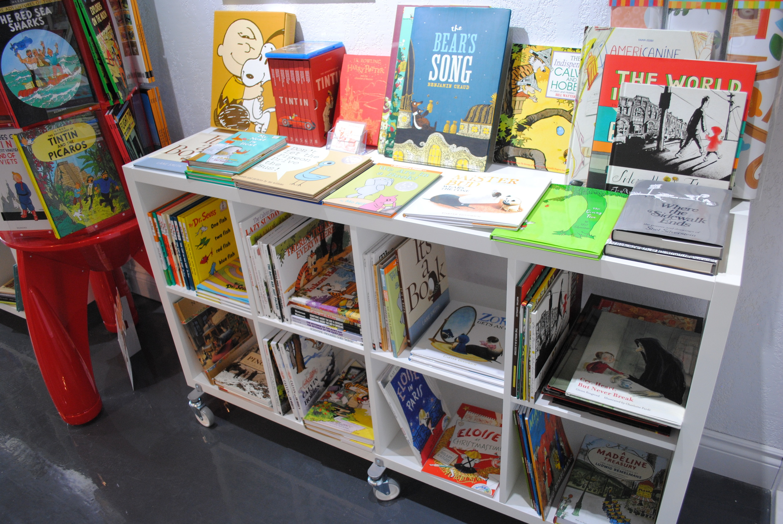 Children's section at The Prints and the Paper