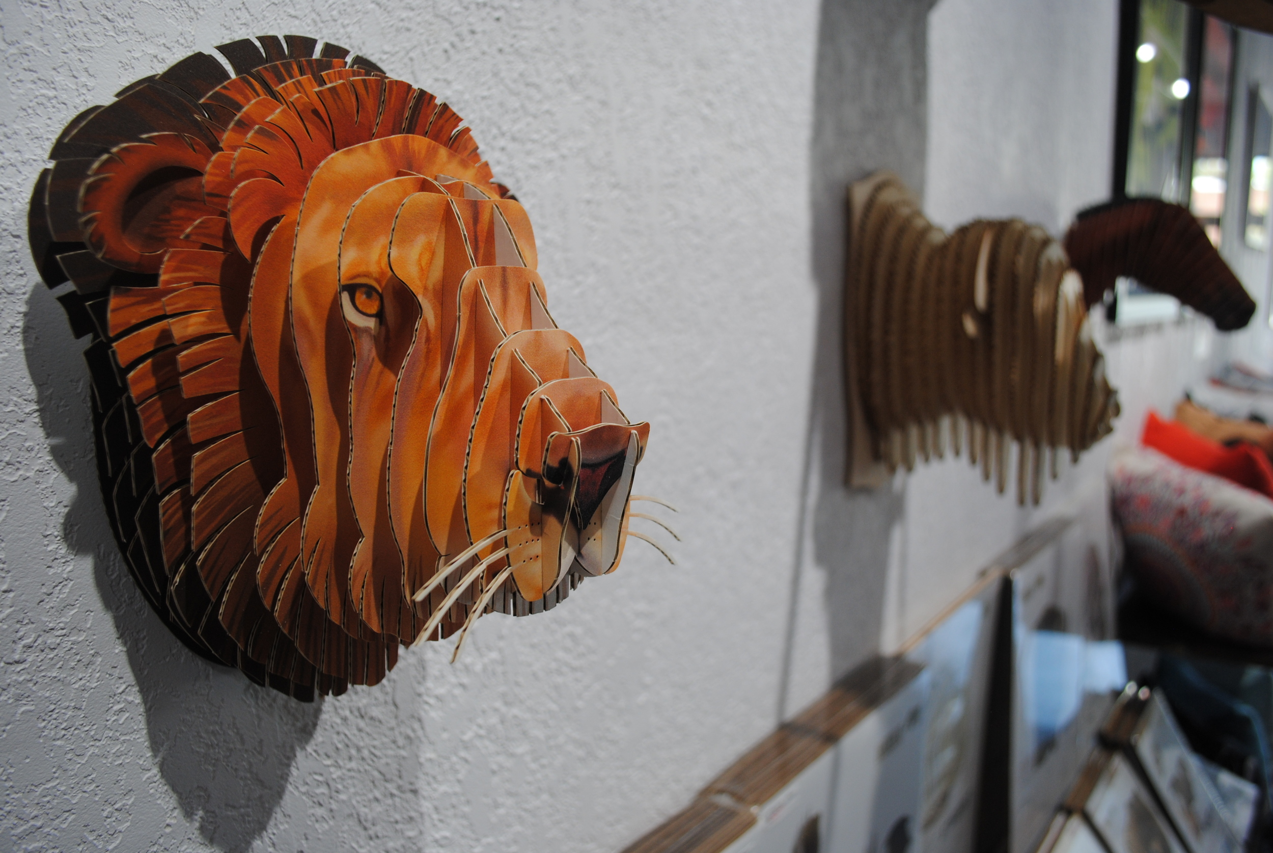Cardboard Safari Lion from The Prints and the Paper in Edmonton on 124 street