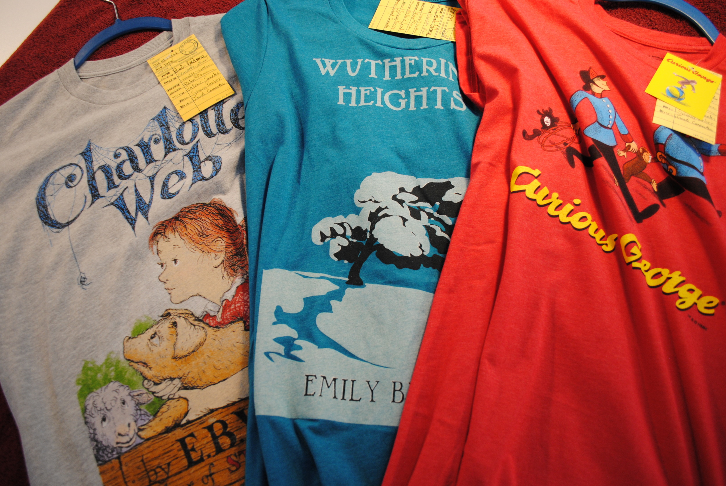 LIterary shirts from The Prints and the Paper in Edmonton on 124 street