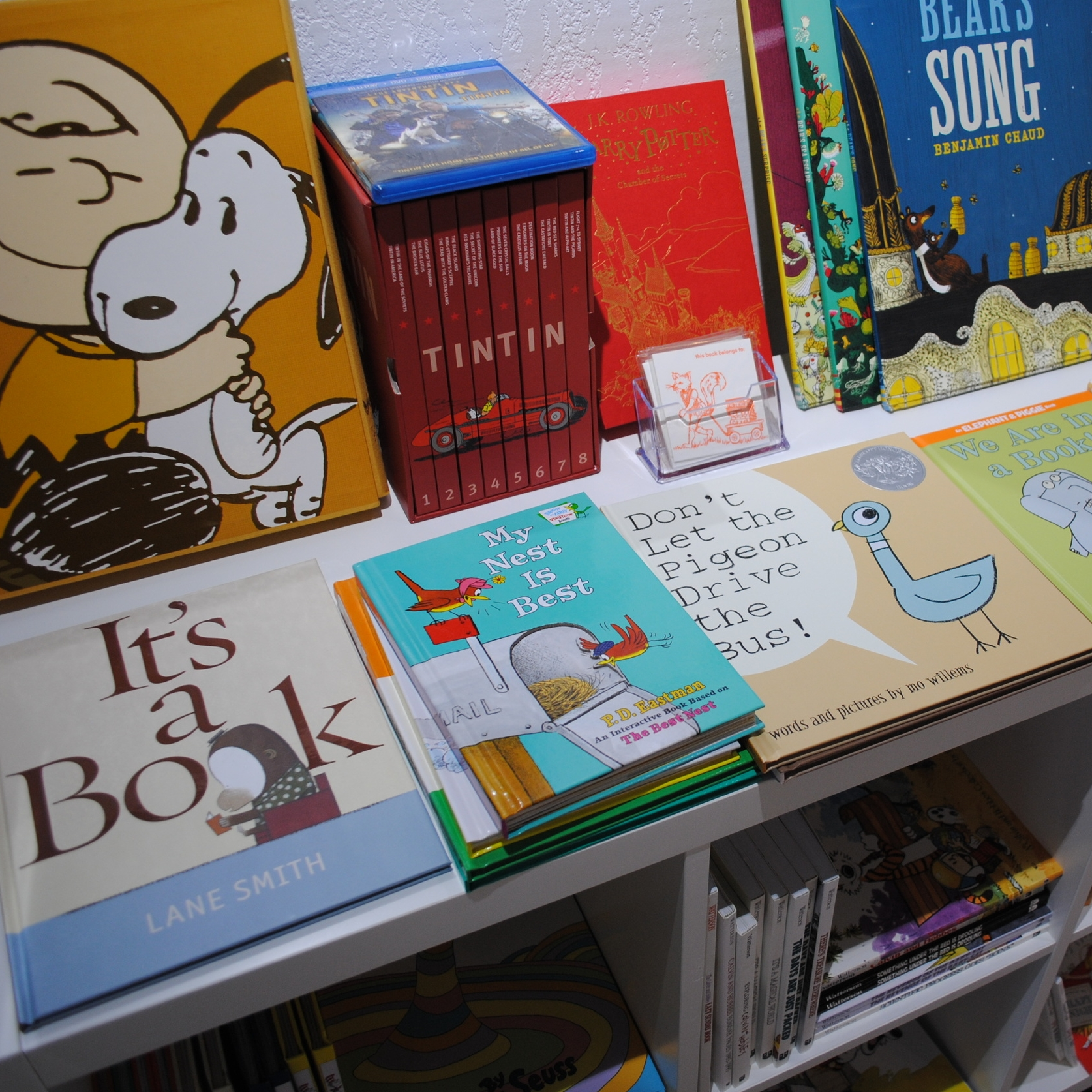 Kids' books section at The Prints and the Paper in Edmonton on 124 street