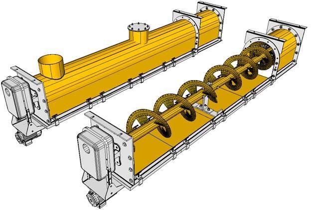 Screw Conveyor  Tubes Feeder Screws Bolted Lining Plates