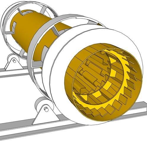 Asphalt Dryers  Tubes Fins Weld-on Lining Plates