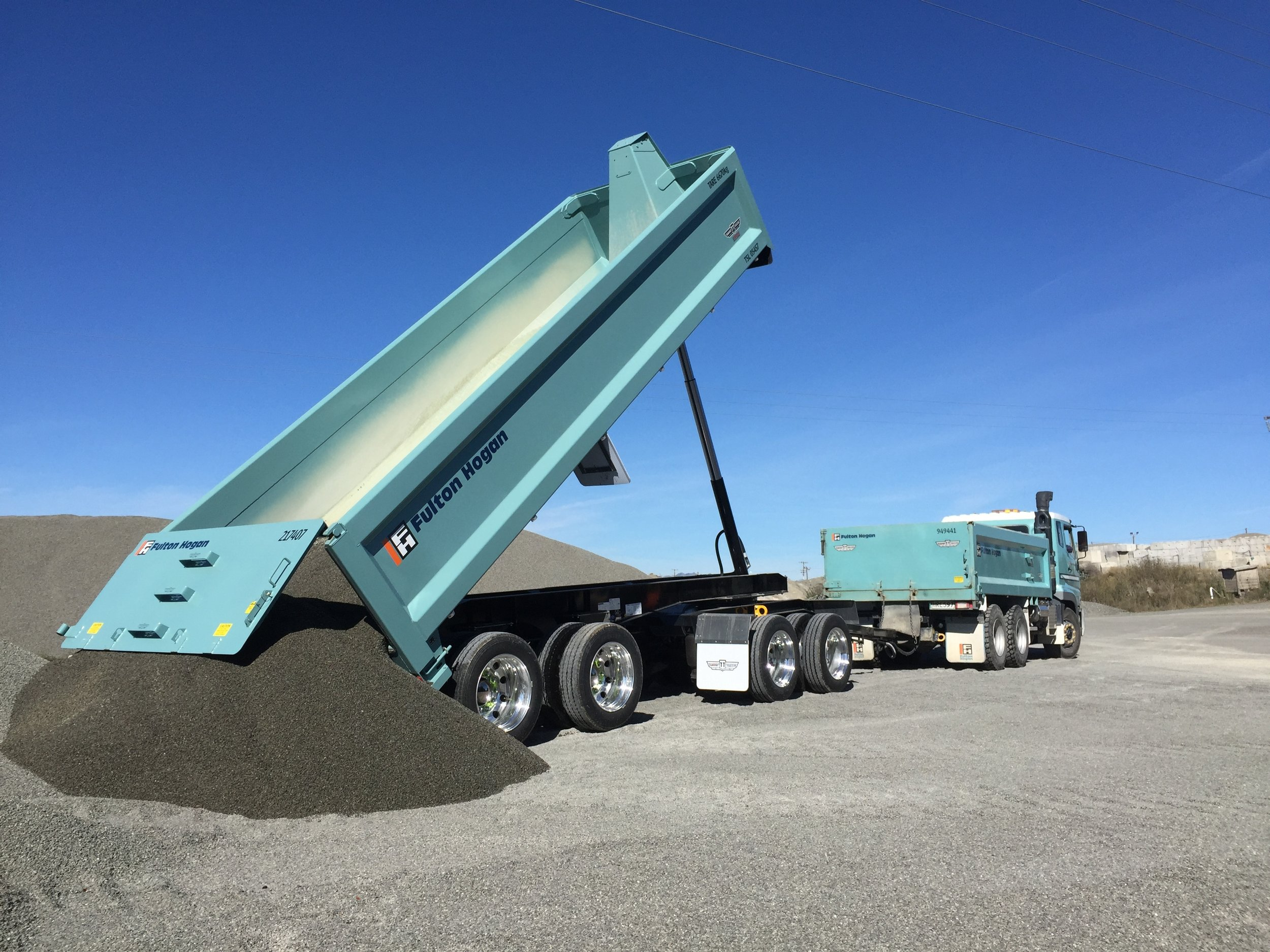 Fulton Hogan Hardox Truck and Trailer