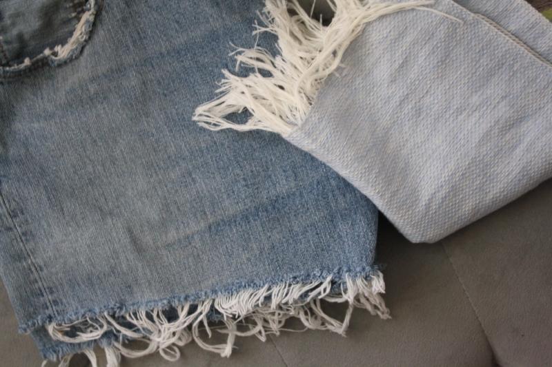Treasure Island Flea Finds: $5 Colorful Poncho, $5 Distressed Vintage Levi shorts