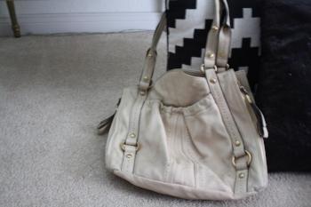 B. Makowksy Cream Soft Leather Ivory Cream Hobo Shoulder Bag