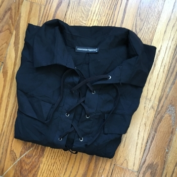 Amerasian Apparel Lace Up Top-$7