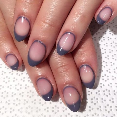 summer 2017 nail trend grey manicure