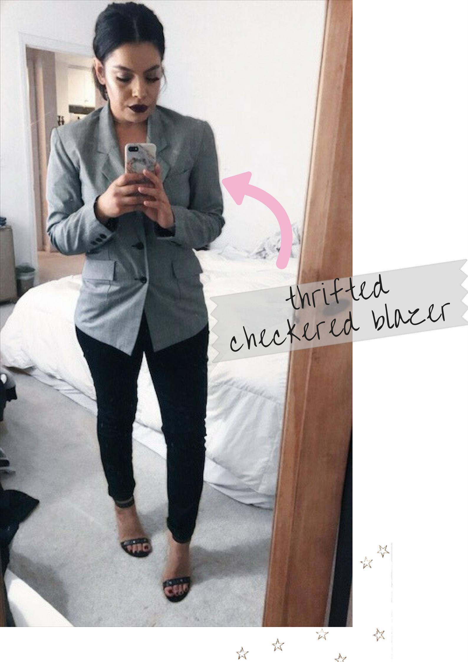 thrifted checkered blazer.jpg