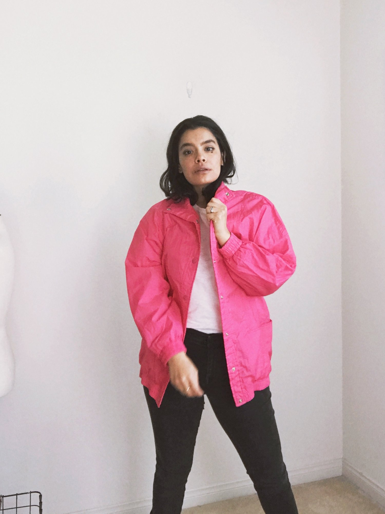 Purchase this vintage neon windbreaker  here