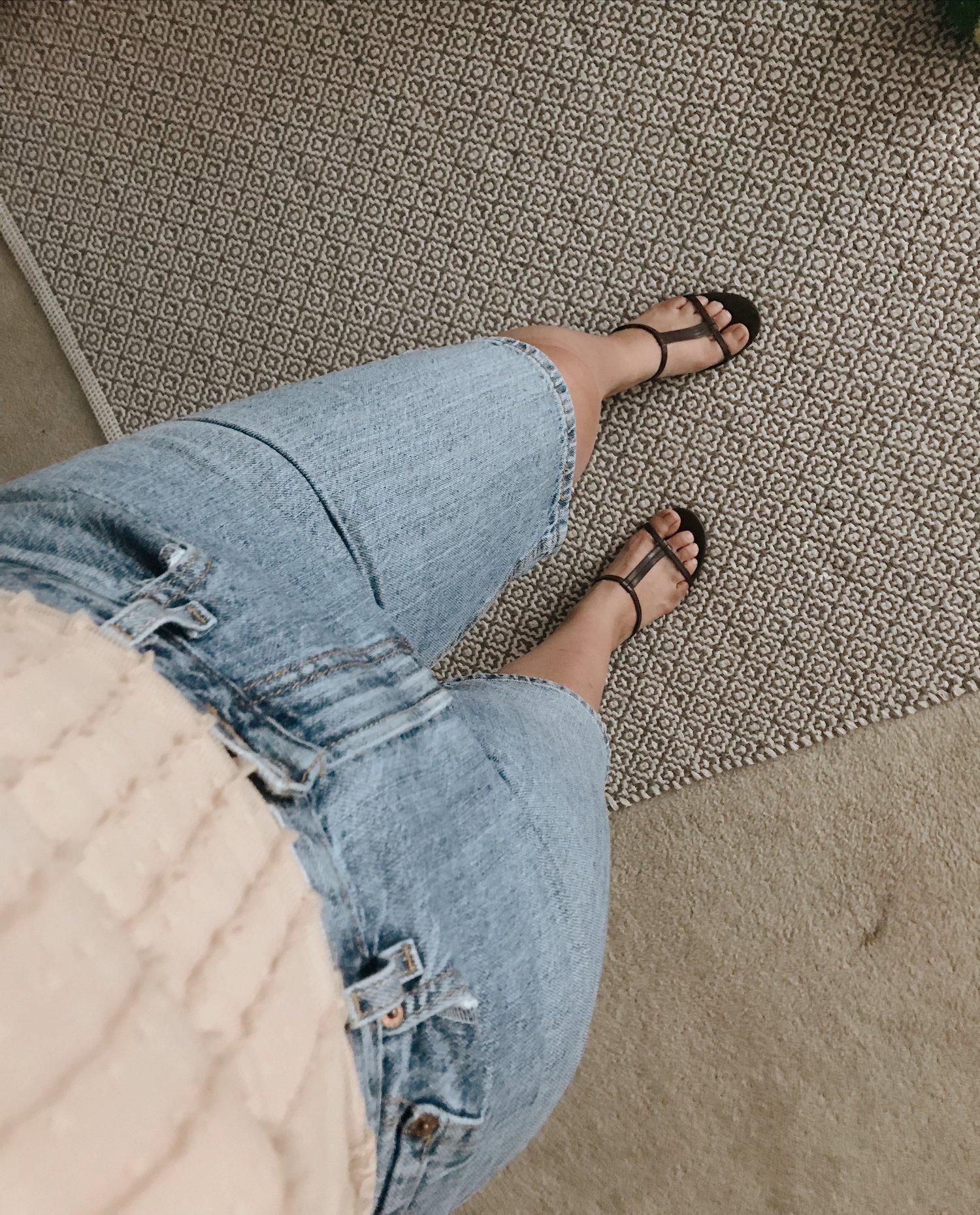 Strappy kitten heels biker shorts