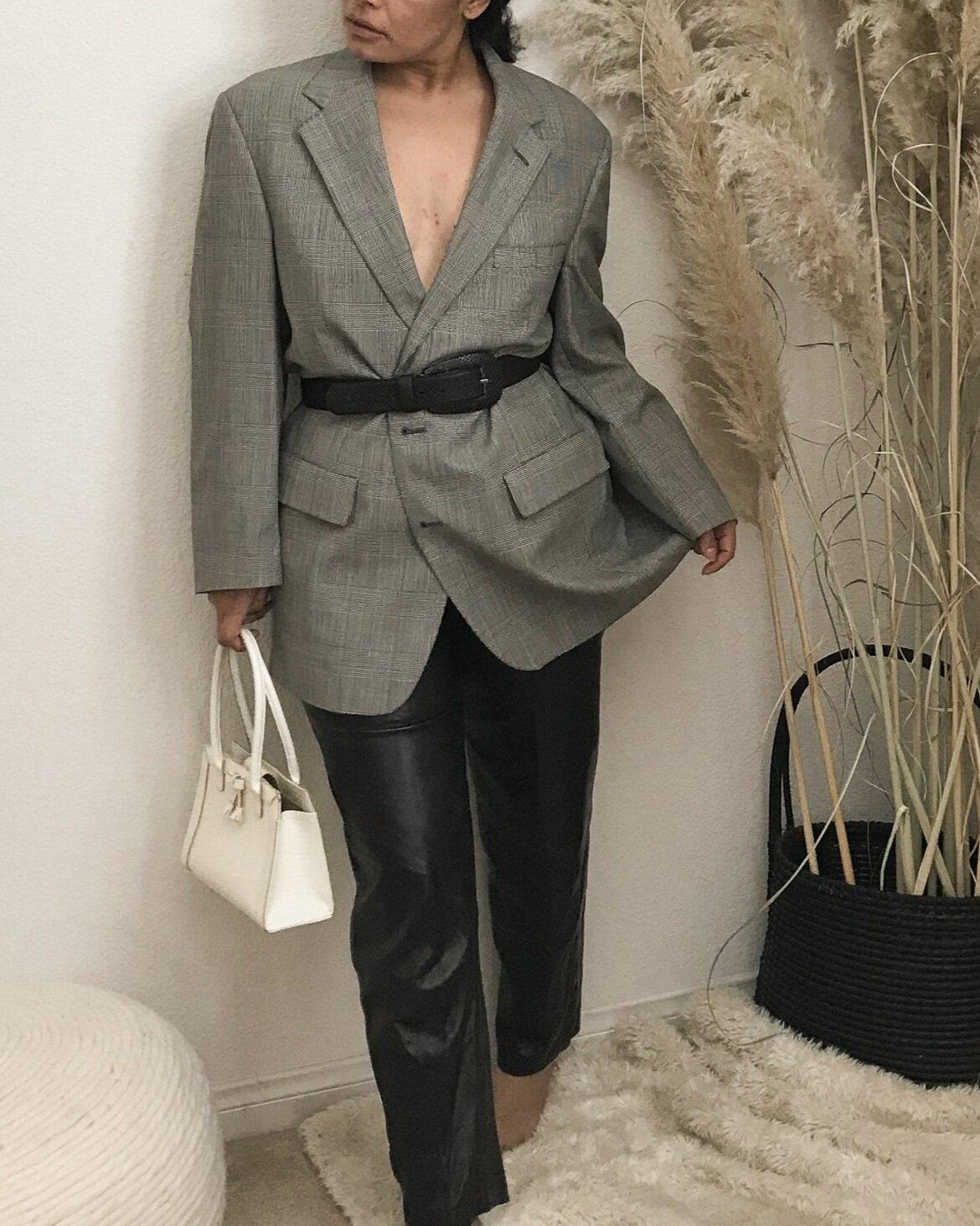 oversized+vintage+blazer