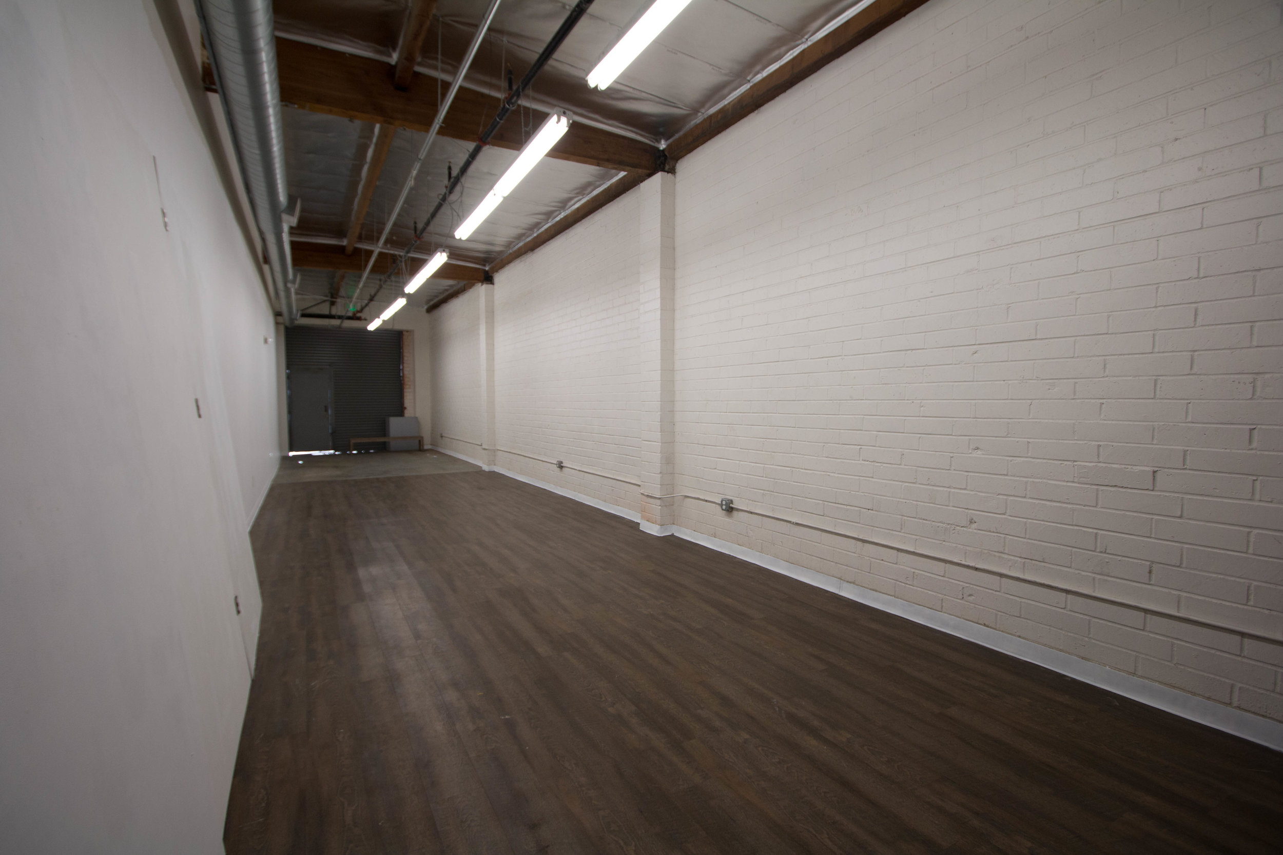 Back room is about 800 square feet and front room is another 400 suare feet *area holds 80-120 people.