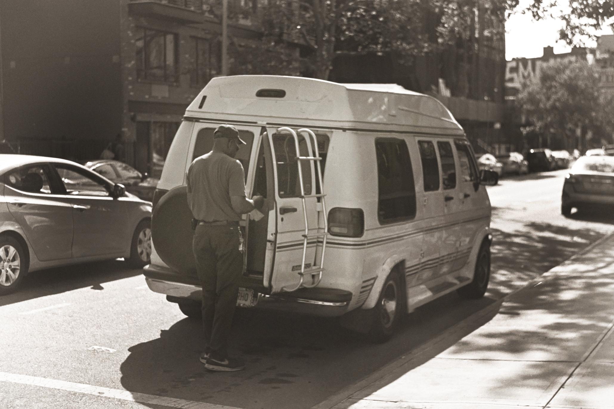 man with a van, 2018.