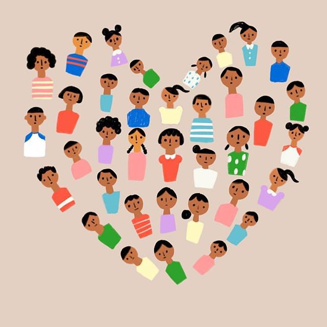 Though it should go without saying, Families Belong Together. Thank you @carolynsuzuki for creating this beautiful piece of artwork. #familiesbelongtogether