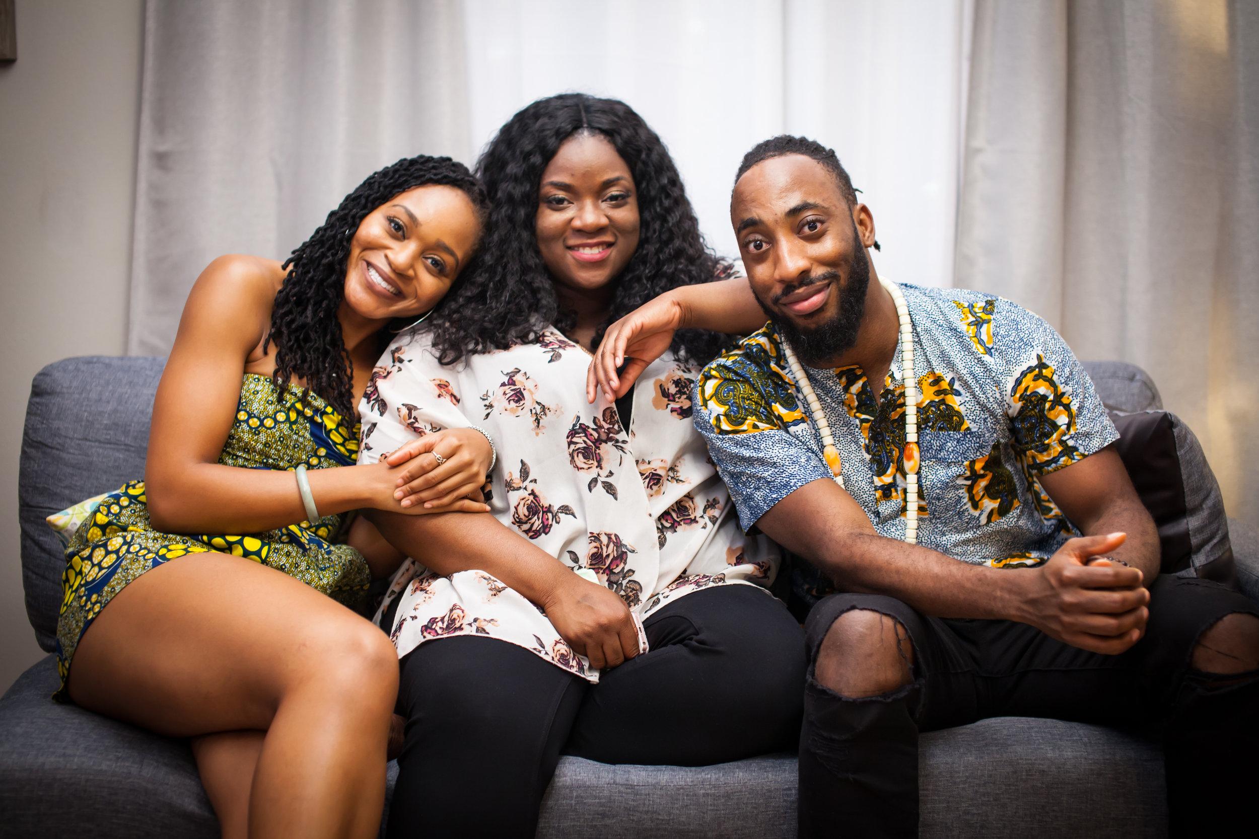 The Siblings:Obi, Nneka, Chi Chi