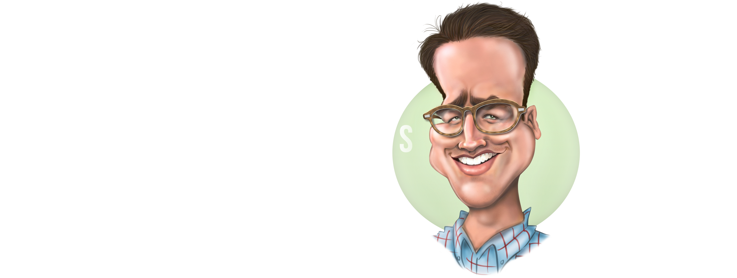 Caricatures By Brad Logo and Self Caricature