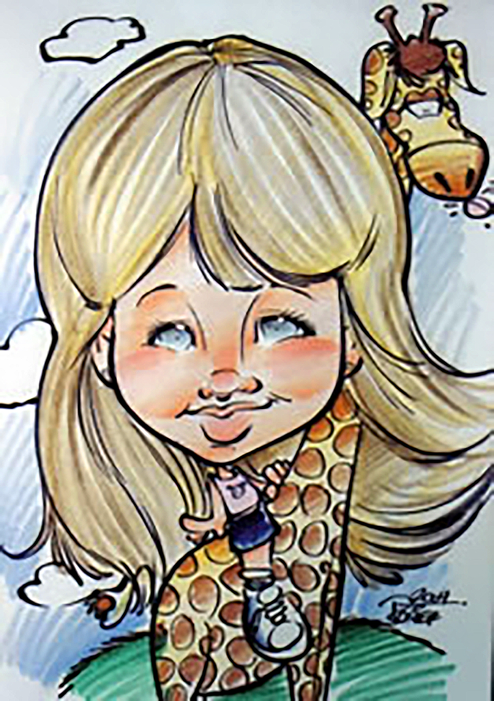 Traditional Hand-Drawn Caricature Sample 9