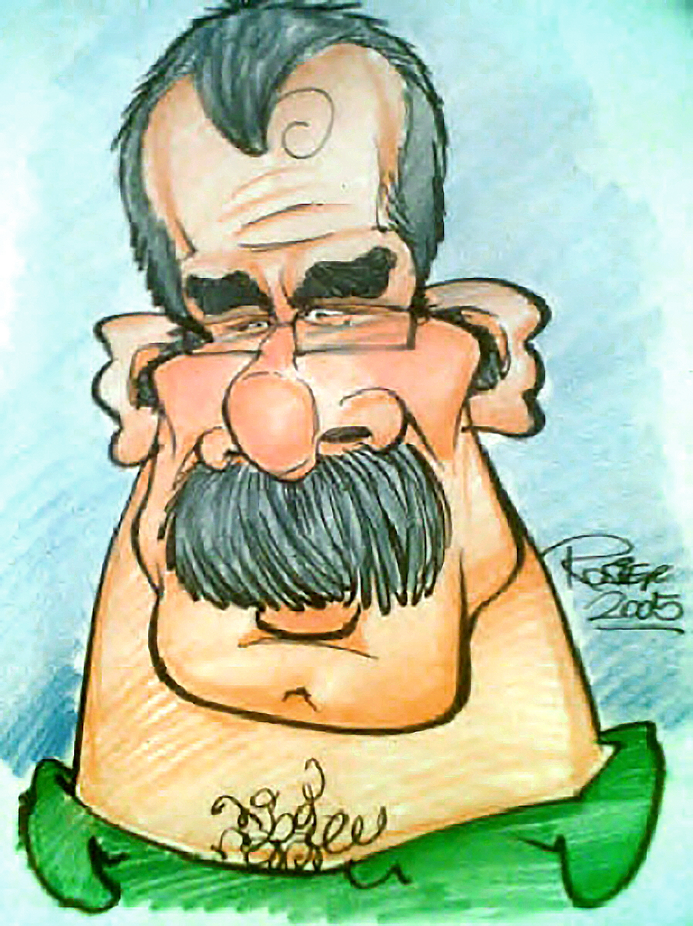 Traditional Hand-Drawn Caricature Sample 13