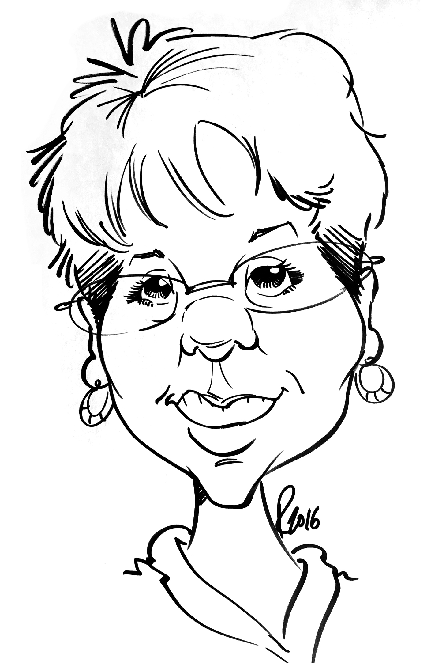 Traditional Hand-Drawn Caricature Sample 10