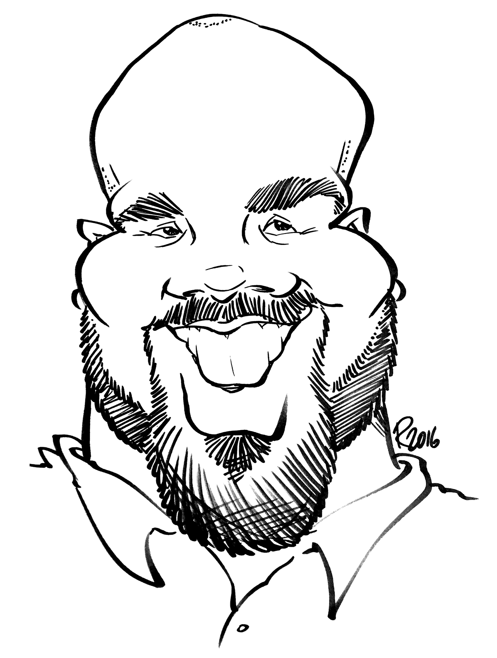 Traditional Hand-Drawn Caricature Sample 19