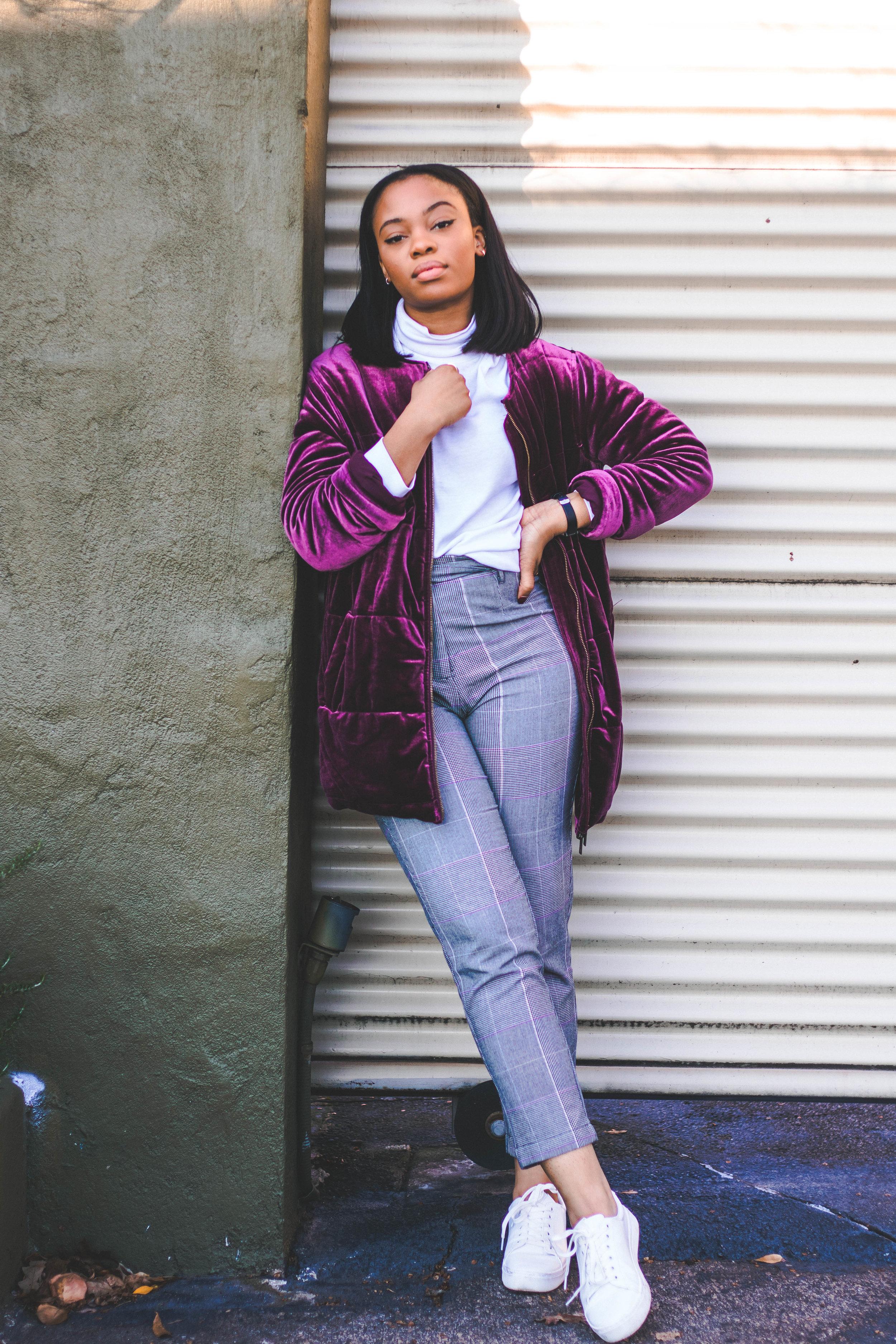 checkered whowhatwear velvet
