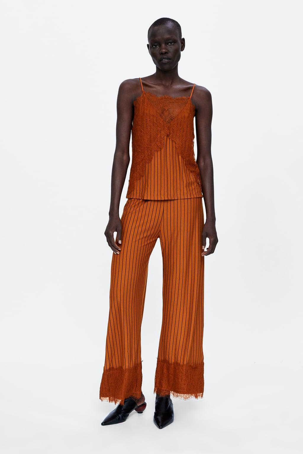 dreaspeaks Zara copper lace pants