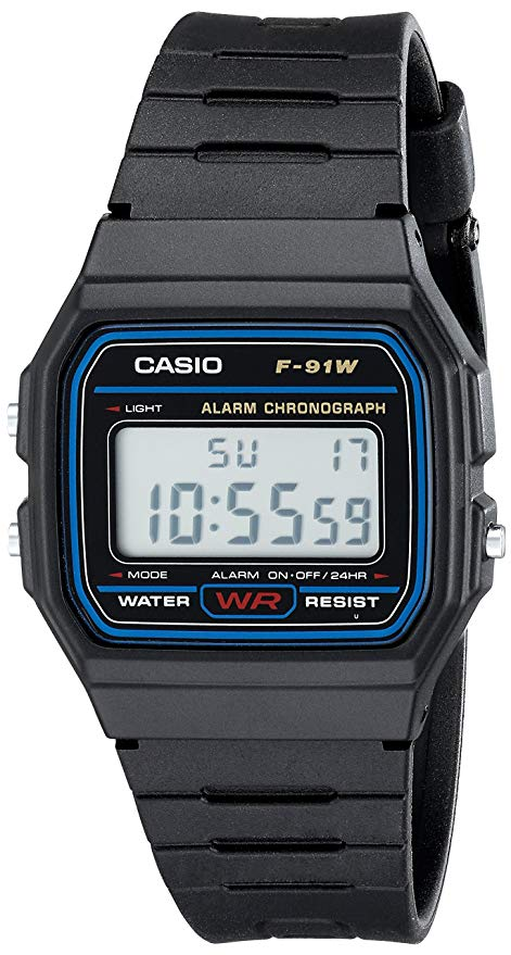 Casio F91W-1 classic resin strap digital watch