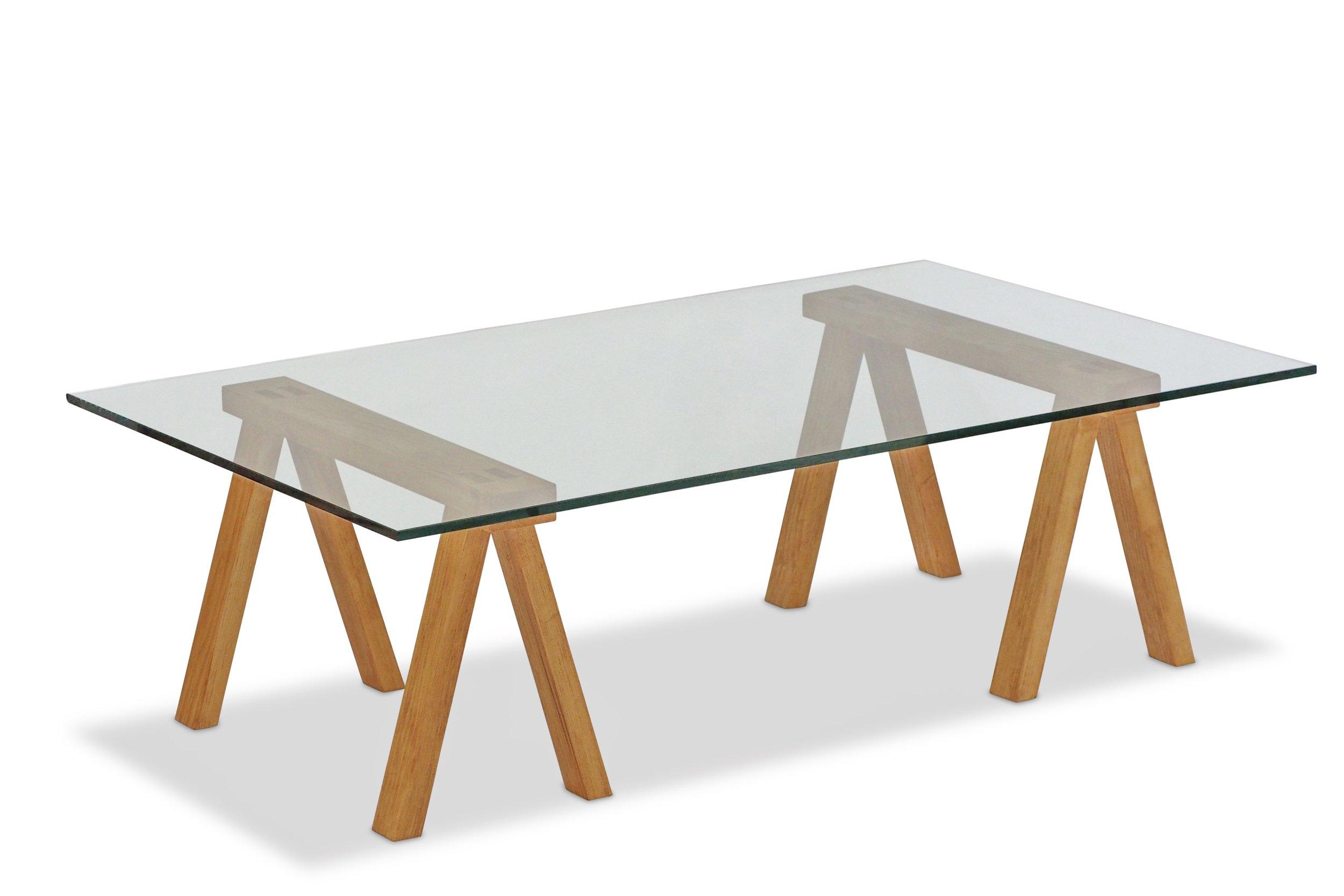 Sawbuck Coffee Table