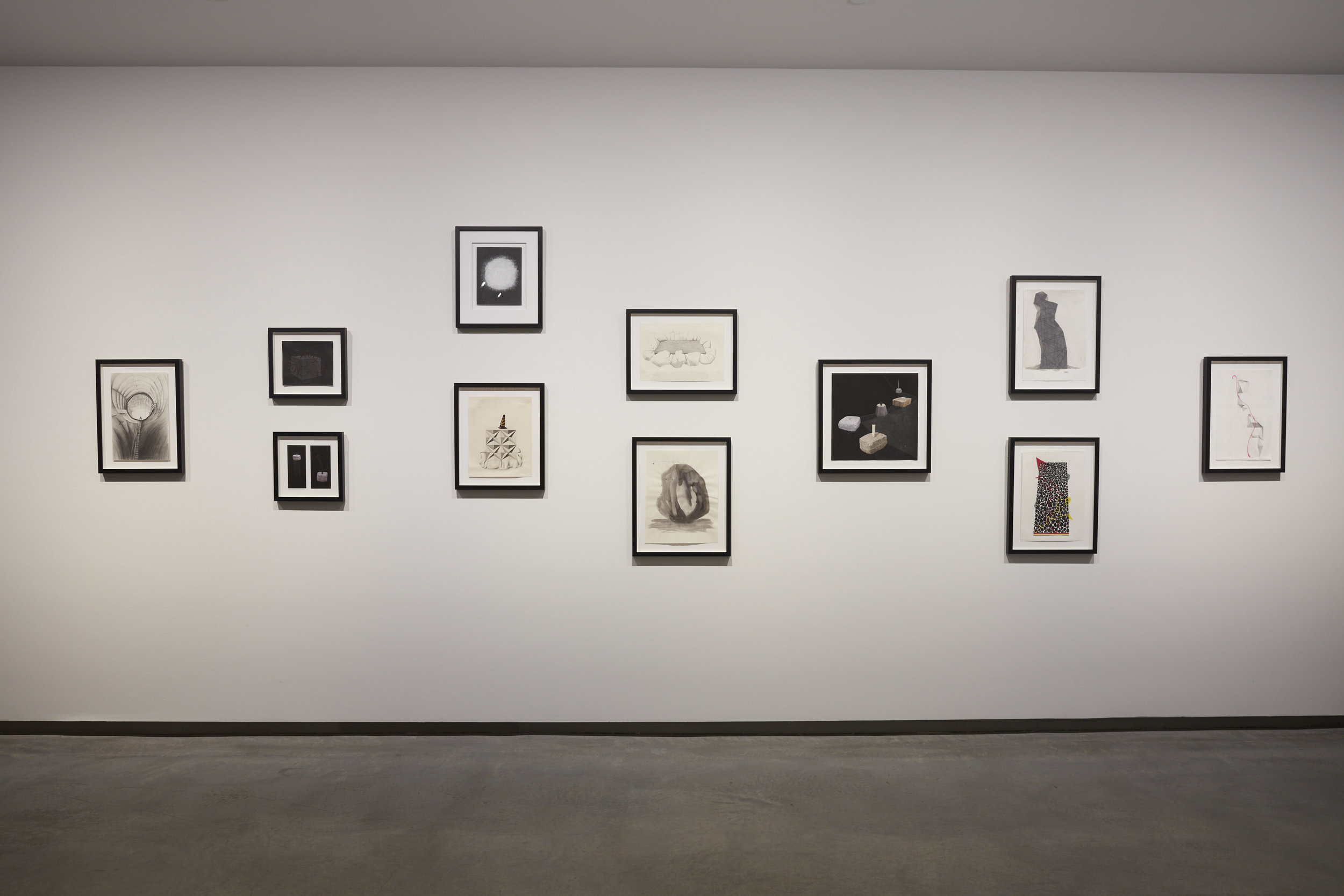 installation shot of selected drawings shown in The National, MCA, Sydney, 2017