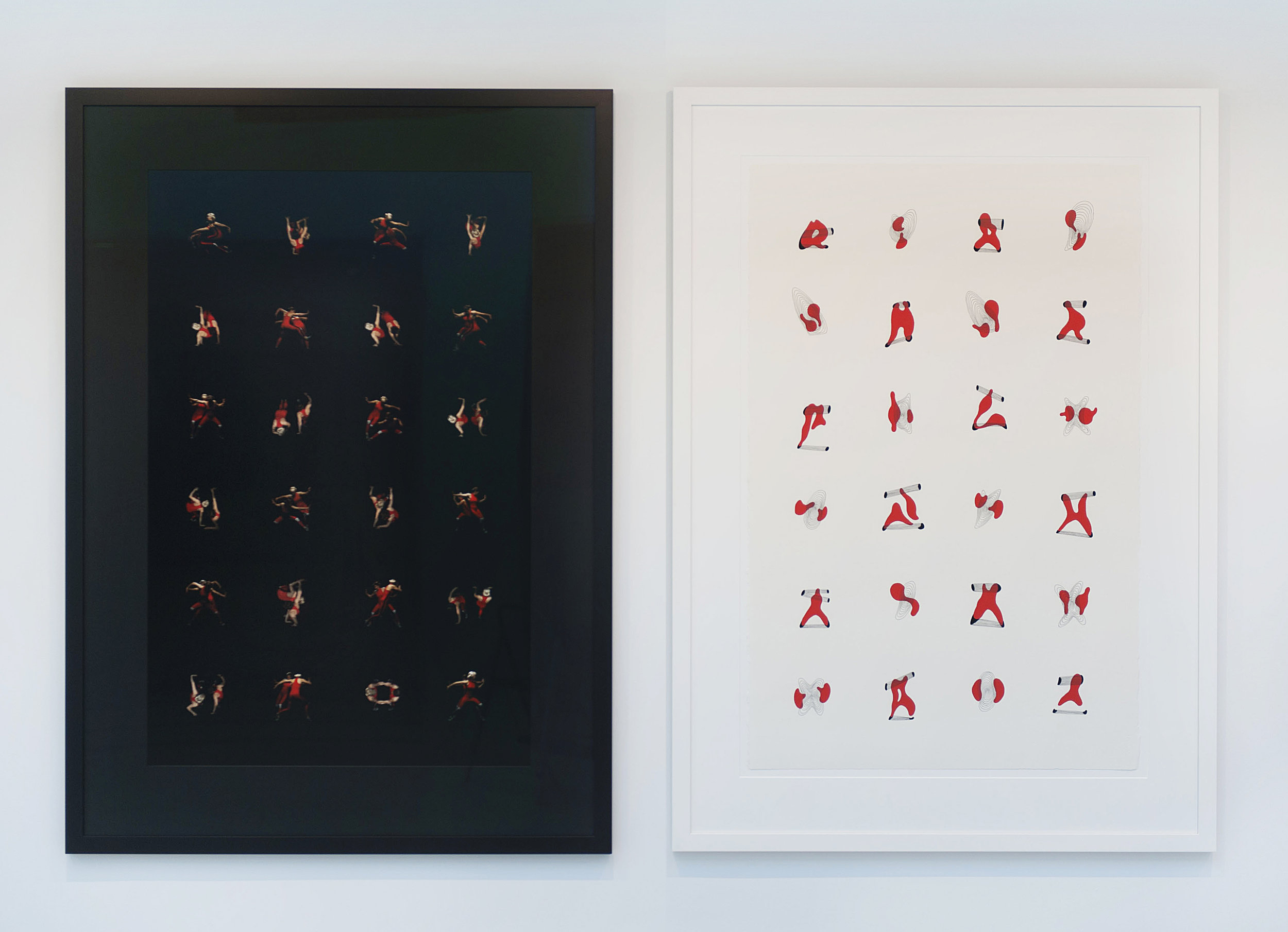 The Pact (diptych)  , 2017 LEFT: Archival Giclee print on Ilford gallery paper 124 x 87 cm Edition of 5 RIGHT: Gouche and ink pen on Archers watercolour paper 124 x 87 cm