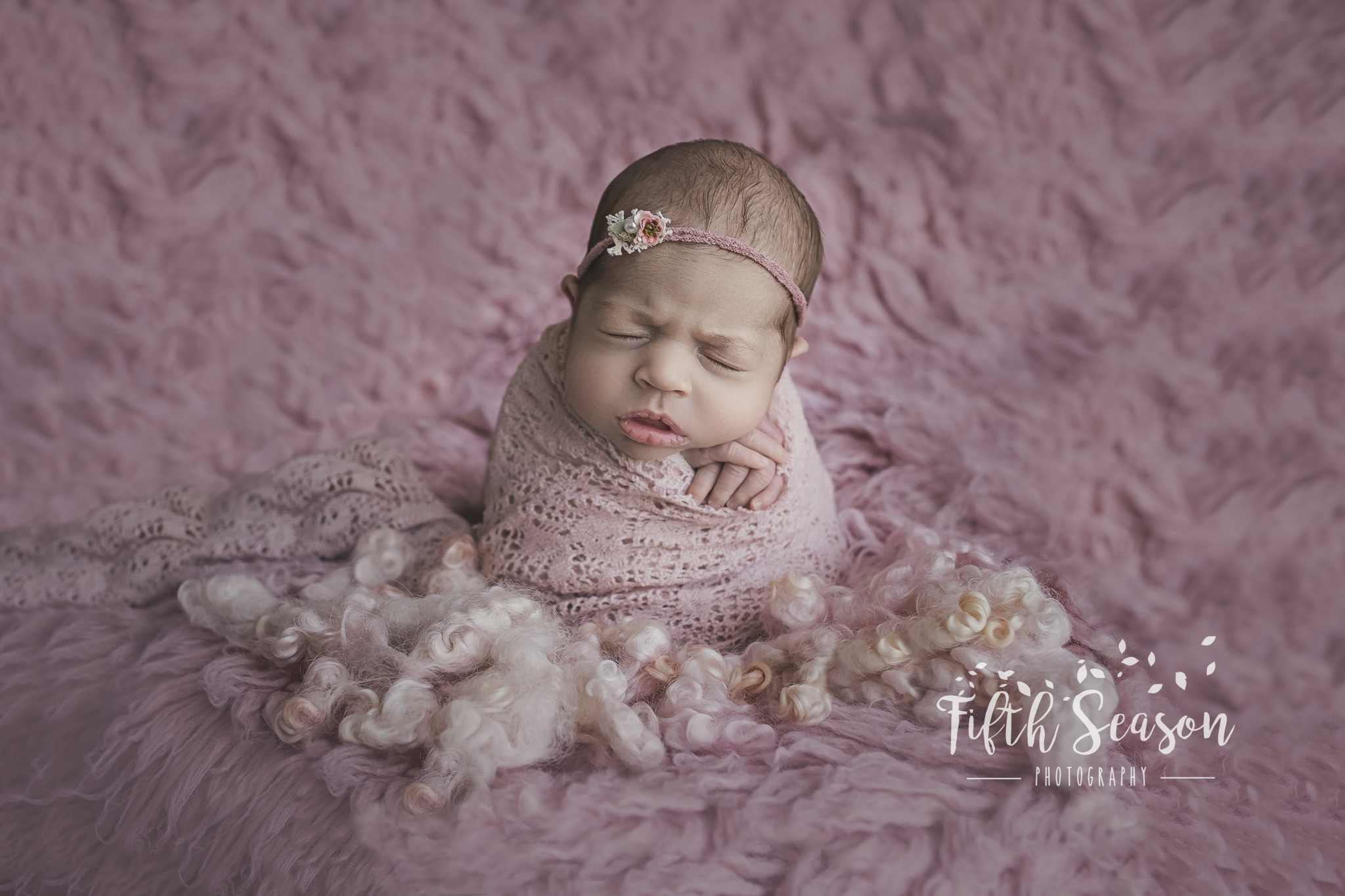 Compositing is vital for a lot of posing with newborns,hands are on baby at all times in this pose.