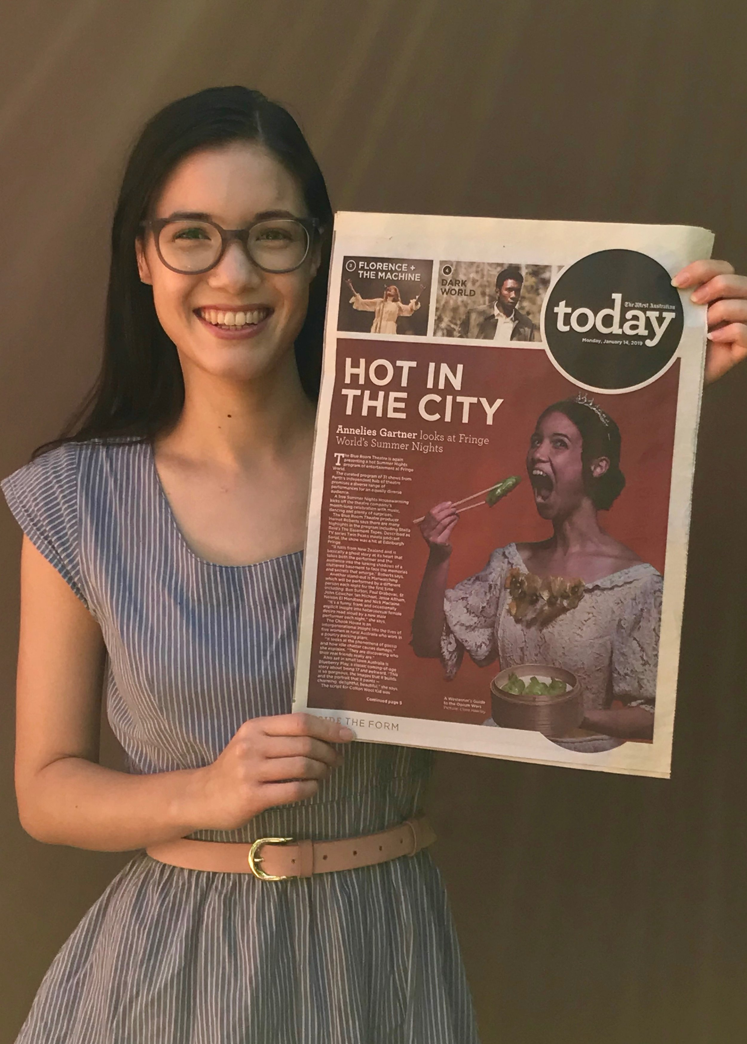 Our hero image (photography by Clare Hawley) featured on the front page of The West Australian's  TODAY lift out!