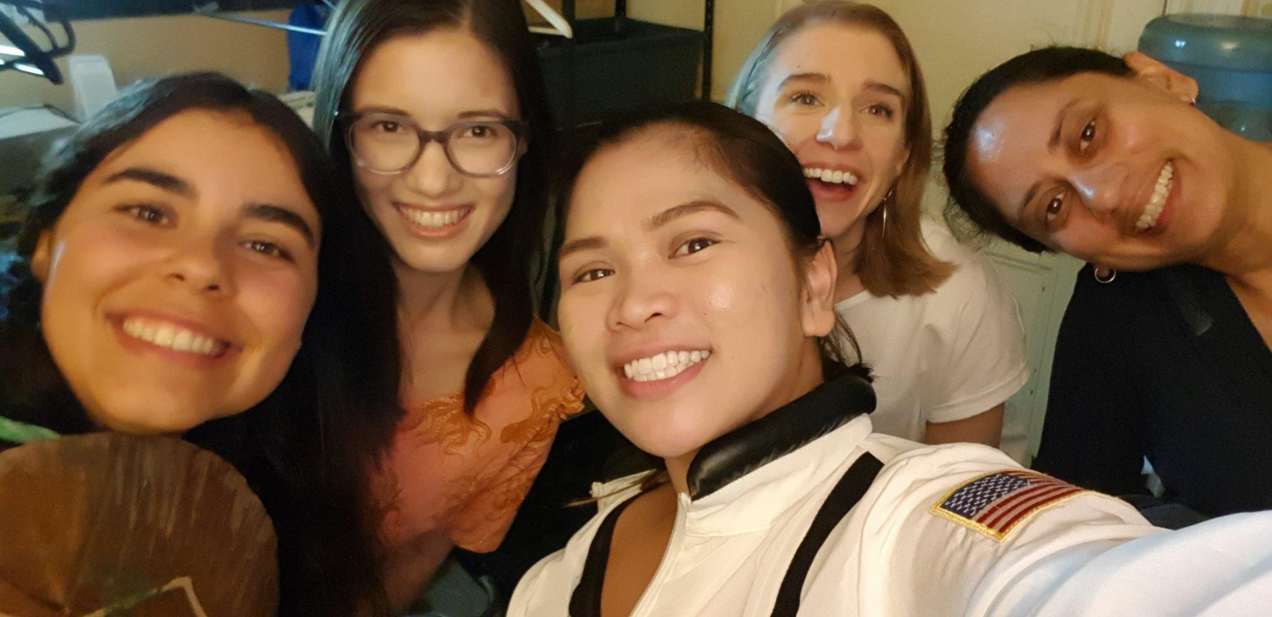 L-R: Lucia May, Tabitha Woo, Rizcel Gagawanan, Melissa Hume, Suz Mawer.