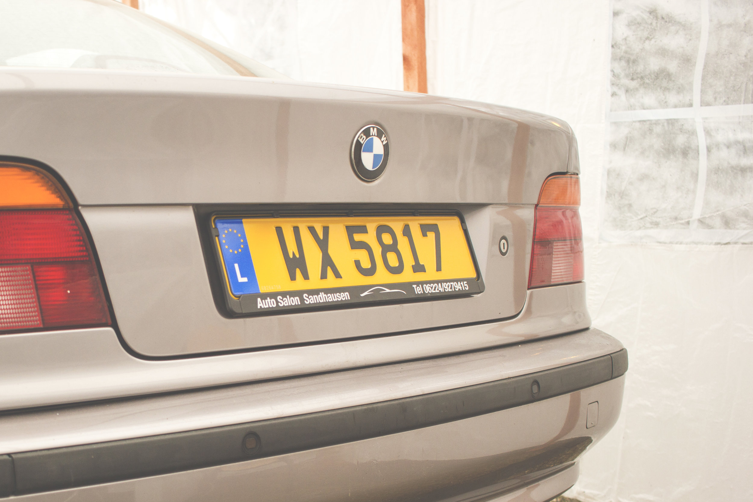 Mömus BMW E39 Exterior Rear Back Aspen Silver Auto Detailing All Cleaned Up
