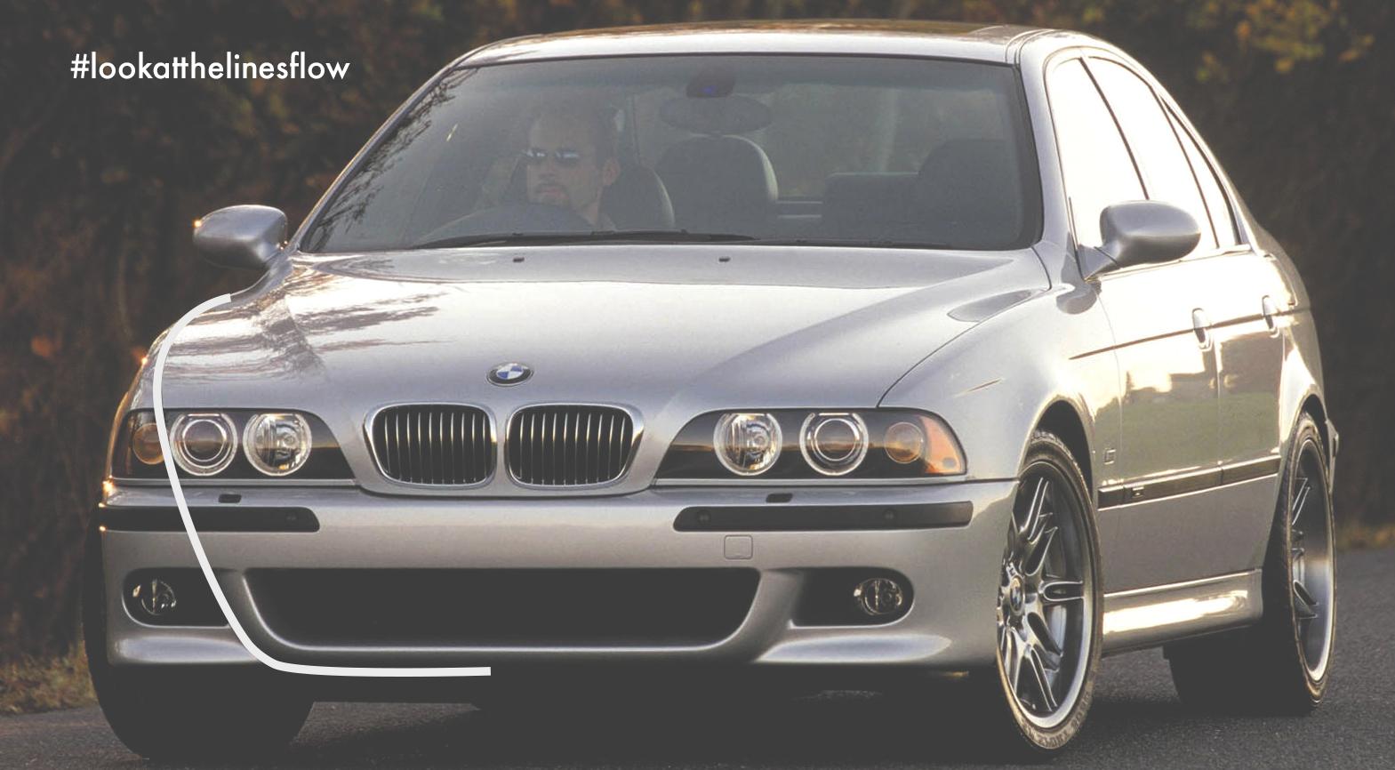 Mömus BMW E39 m sport pack Facelift fl bumper front headlights line flow