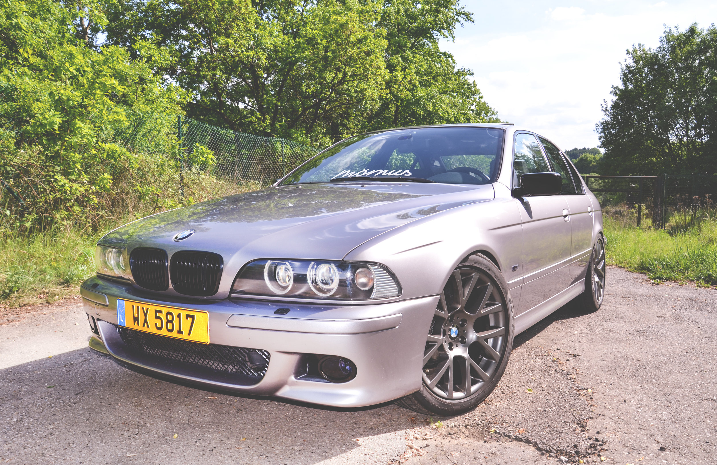 Mömus BMW E39 Bumpers M Sport Paint and Finish Aspen silver Final results Front